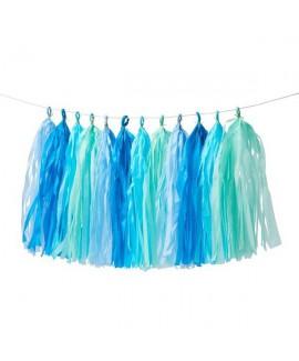 שרשרת טאסלים צבעי פסטל כחולים -Meri Meri