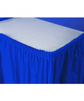 חצאית לעיטור שולחן כחולה