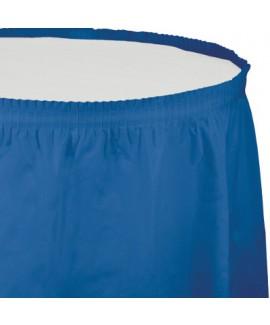 חצאית לשולחן כחולה