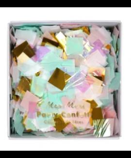 קונפטי מרובעים בצבעי אולטרה ופסטל - Meri Meri