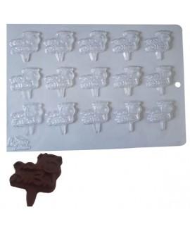 תבנית פלסטיק לשוקולד בר מצווה