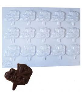 תבנית פלסטיק לשוקולד בת מצווה