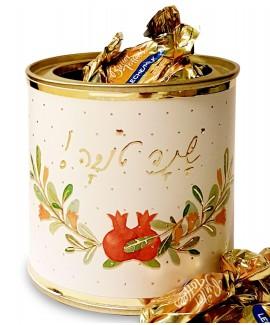 קופסת סוכריות חמאה עגולה קטנה