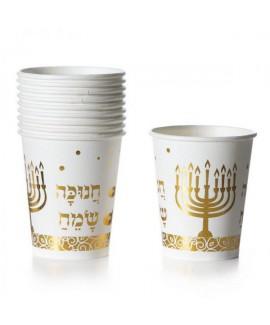 כוסות נייר חנוכה שמח