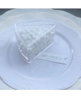 מארז קופסאות פלסטיק בצורה פרוסת עוגה