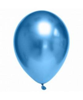 שישיית בלוני גומי כרום כחול- ללא ניפוח