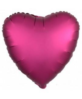 בלון אלומיניום לב פוקסיה