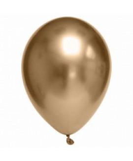 שישיית בלוני גומי כרום זהב- ללא ניפוח