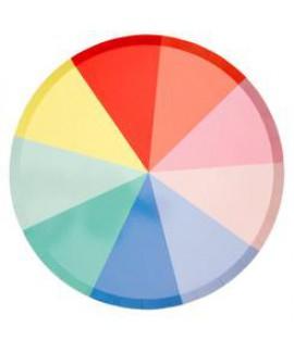 צלחות גדולות גלגל הצבעים - Meri Meri