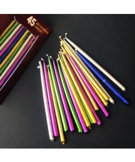 נרות חנוכה צבעוניים בעבודת יד