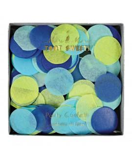 קונפטי עיגולי נייר כחול - Meri Meri