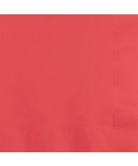 מפיות גדולות 3 שכבות אדום קורל