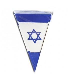 שרשרת דגלוני ישראל מנייר