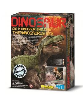 חפירת שלד דינוזאור TREX