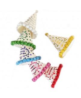 שישיית כובעי נייר צבעוניים- נקודות