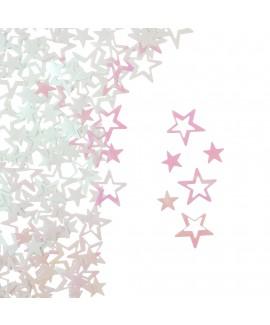 קונפטי כוכבים אולטרה לבן