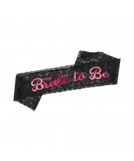 סרט גוף Bride to Be תחרה שחורה