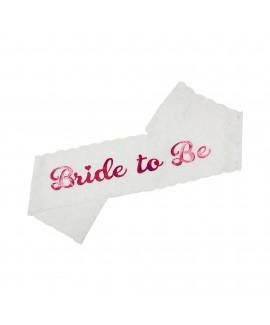 סרט גוף Bride to Be תחרה לבנה