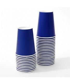 כוסות נייר כחול כהה