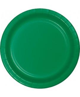 צלחות נייר גדולות ירוק אמרלד