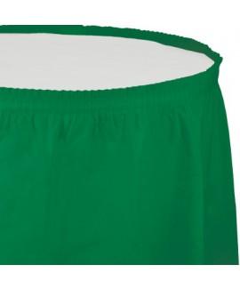 חצאית לשולחן ירוק אמרלד