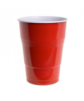 כוסות פלסטיק גדולות צבע אדום