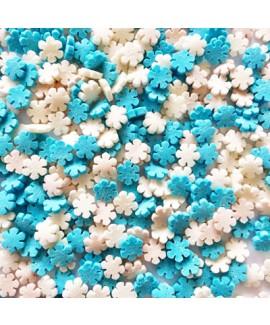 סוכריות לעוגה כוכבים כחול לבן