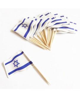 דגל ישראל על קיסם חבילה גדולה