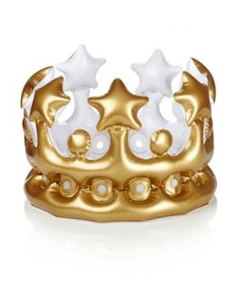 כתר מתנפח זהב מלך ומלכה