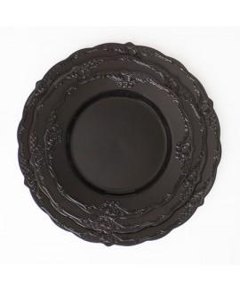 חבילת צלחות וינטג' שחורות בינוניות