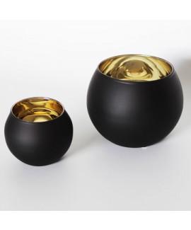 עששית כדור שחור זהב גדול