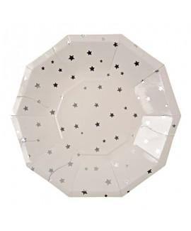 צלחות כוכבים לבנות קטנות- Meri Meri