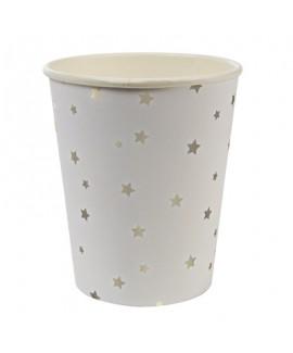 כוסות כוכבים לבנות - Meri Meri