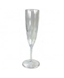 כוסות שמפניה מעוטרות חלק אחד