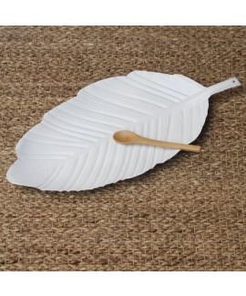 מגש עלה לבן ממתכת