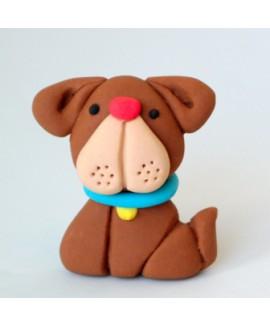 קישוט בצק סוכר - כלב חום