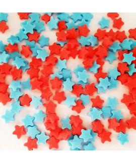 סוכריות לעוגה כוכבים כחול אדום