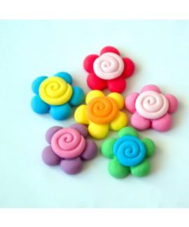 קישוט בצק סוכר - פרח ספירלה