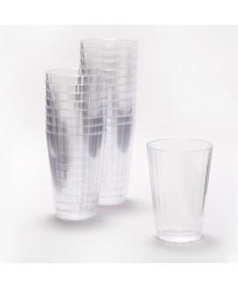 10 כוסות פלסטיק שקופות קשיחות