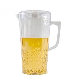 קנקן פלסטיק גדול עם מכסה לשתייה קרה