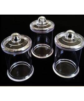 6 כוסות קינוח קטנות עם מכסה