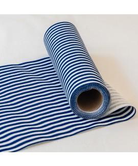 ראנר פסים כחול נייבי לבן