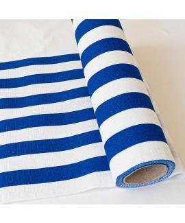 ראנר פסים עבים כחול לבן