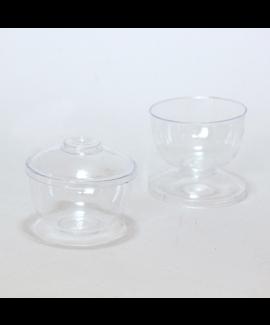 גביע קינוח עם רגל-מכסה