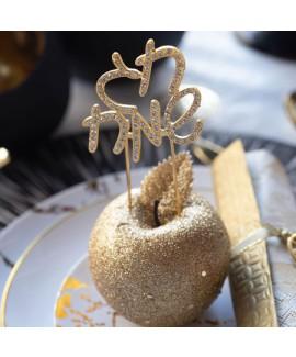 קישוט חג שמח זהב