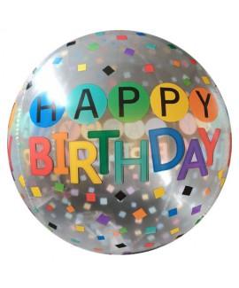 בלון שקוף Happy Birthday