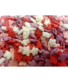 סוכריות לעוגה פרחים צבעוניים