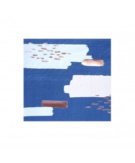 מפיות קוקטייל- כחול וורוד עם הטבעות רוז גולד