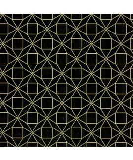 מפיות צורות גיאומטריות- שחור
