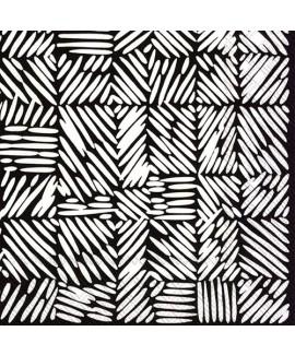 מפיות מרימקו- קווים שחור לבן
